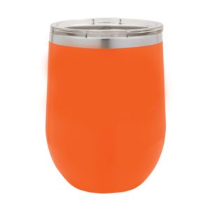Polar Camel 12 oz. Vacuum Insulated Stemless Wine Glass w/Lid Orange Thumbnail