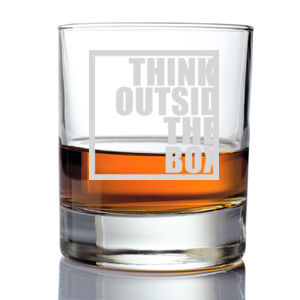 Think Outside the Box Whiskey Glass Thumbnail