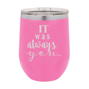 It was Always You Personalized Polar Camel Wine Glass Thumbnail