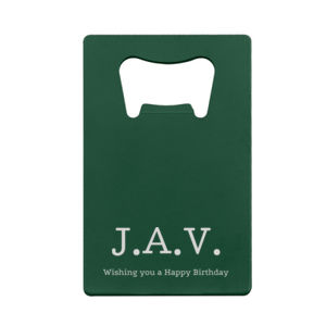 Personalized Credit Card Bottle Opener for Him Thumbnail