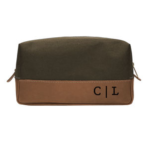 Personalized Leather Toiletry Bag for Granpa Thumbnail