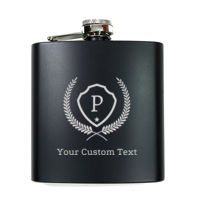 Personalized Stainless Steel Flask for Groom Thumbnail