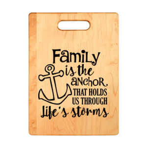 Family is the Anchor Personalized Cutting Board Thumbnail
