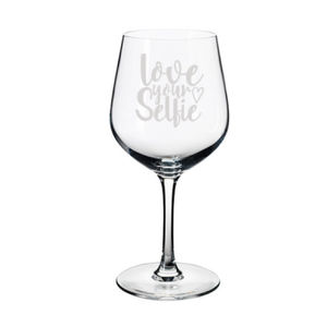 Love Your Selfie Personalized Wine Glass Thumbnail